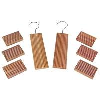 Household Essentials 97204 CedarFresh Red Cedar Wood Closet Value Pack - 2 Cedar Hang Ups and 6 Cedar Blocks