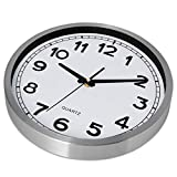 Bernhard Products Wall Clock Silent Non-Ticking