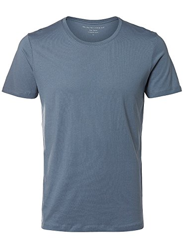 Selected Herren T-Shirt blau blau