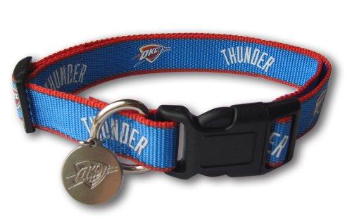 Sporty NBA Oklahoma Thunder Reflective Dog Collar, Medium