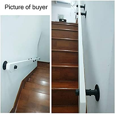 30-600cm Pasamanos de Escalera de Pino Blanco con Soporte de Hierro, pasamanos de protección para discapacitados/Ancianos en Interiores, Pasillo Seguridad para inodoros en el hogar Pasamanos antid: Amazon.es: Hogar
