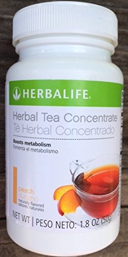 Herbalife Herbal Tea Concentrate 1.8oz – Peach Flavor – A Low-Calorie Blend of Black Tea Orange Pekoe and Green Tea for Antioxidant Support and to Boost Metabolism