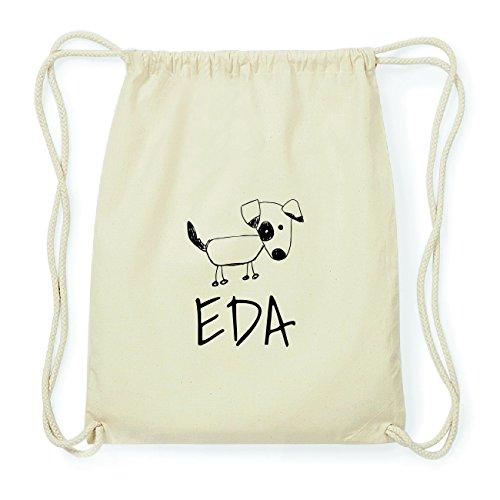 JOllipets EDA Hipster Turnbeutel Tasche Rucksack aus Baumwolle Design: Hund
