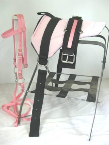 ミニチュア馬/ SM Pony Barebackサドルセットwith Cinchピンク   B0091GTSL6