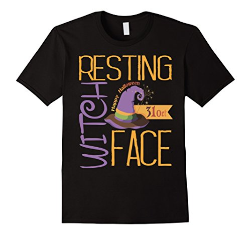 Mens Resting Witch Face T-Shirt Funny Halloween Party Shirt Idea XL (Funny Halloween Party Ideas)