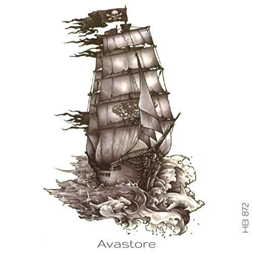 Tatuaje Temporal barco pirata – avastore: Amazon.es: Belleza