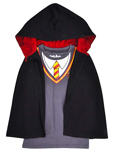 HARRY POTTER Girl's T-Shirt & Cape Set - Hooded Cloak Gryffindor (X-Small 4/5) for $<!--$15.99-->