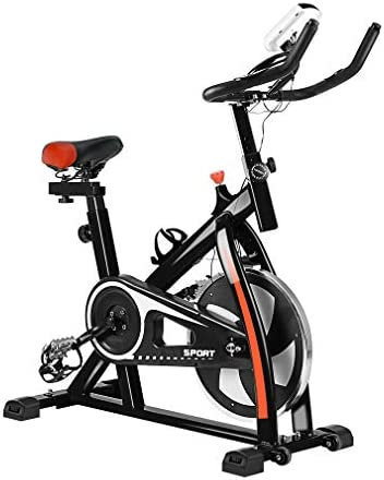 Folding Magnetic Upright Exercise Bike, Indoor Cycling Stationary Bike, Cycle Trainer Workout Equipment, W LCD Display, Adjustable Seat