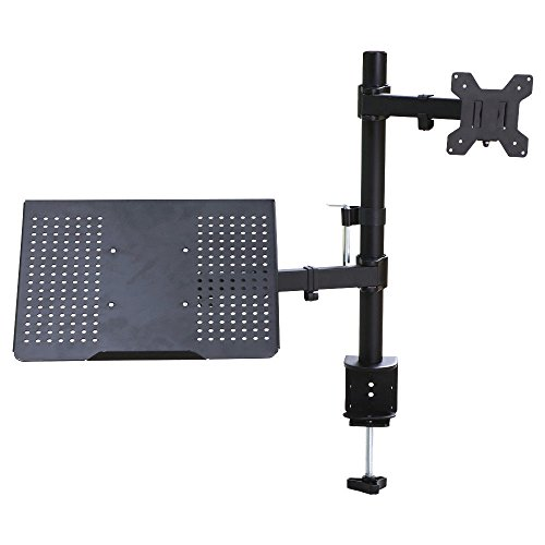 Ergonomic Iron Finish 2in1 Monitor Laptop LCD Desk Mount With Pole And Extension Arms Help Increase Productivity Efficiency While Reducing Harm To Your - Canada Eyeglasses Discount