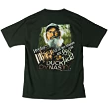 Duck Dynasty Hey Hey All My Stories Are 95% True Jack Adult Hunter Green T-shirt (Adult Large)
