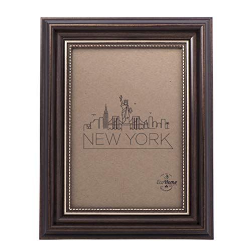 5x7 Picture Frame Antique Brown - Mount Desktop Display, Frames by EcoHome