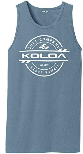 Logo Muscle Shirts (Koloa Surf(tm) Thruster Logo Pigment-Dyed Tank Tops-DenimBlue-3XL)