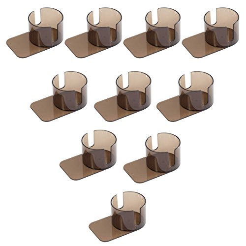 GSE Games & Sports Expert Poker Table Plastic Slide Under Cup Holder (4 Style Available) (Jumbo with Cutout - 10 Pack)