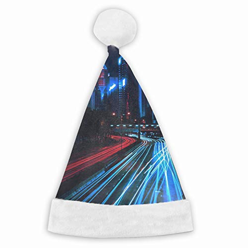 Night City Skyscrapers Funny Party Hats Santa Hats - Christmas Novelty Hats]()