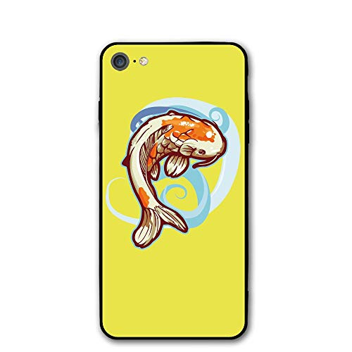 iPhone 7 Case Dancing Koi Fish Protective Shockproof Anti-Scratch Resistant Slim Cover Case for iPhone 7 Hard Shell