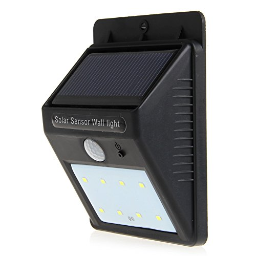 Price comparison product image LIYUDL 8LED Light Solar Power Human Motion Sensor Sensoring Wall Outdoor Garden Lamp