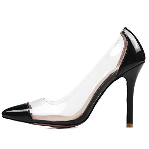 Fashion Black Slingback Women 2 Pumps Zanpa Transparent S5pwUWq