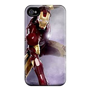 Iphone 4/4s Cover Case - Eco-friendly Packaging(iron Man Landing)