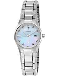 Bulova Womens 96P108 Mother of Pearl Dial 8 Diamonds Bracelet Watch