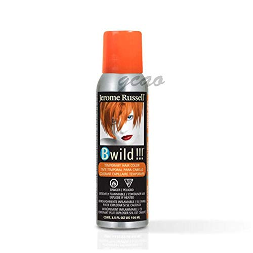 Temporarily Color Hair Halloween (jerome russell B Wild Color Spray, Tiger Orange, 3.5)