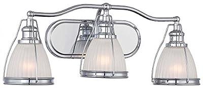 Minka Lavery 5793-77 Transitional 3 Light Bath Art Lighting, Chrome