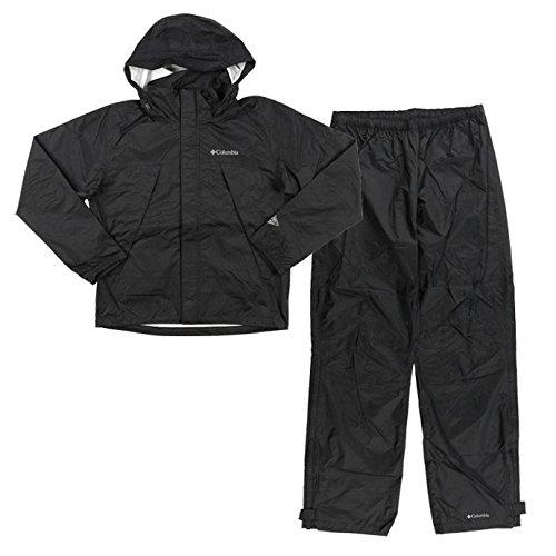 コロンビア(Columbia)メンズ シンプソン サンクチュアリー レインスーツ 上下セット PM0124 1705 男性 紳士 B071J19LZZ 010(ブラック) Large