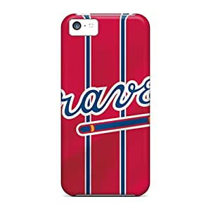 Awesome Atlanta Braves Flip Cases With Fashion Design For Iphone 5c