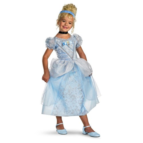 Disney's Cinderella Cinderella Deluxe - Size: Child M(7 - 8) - Cinderella Costume For Kids