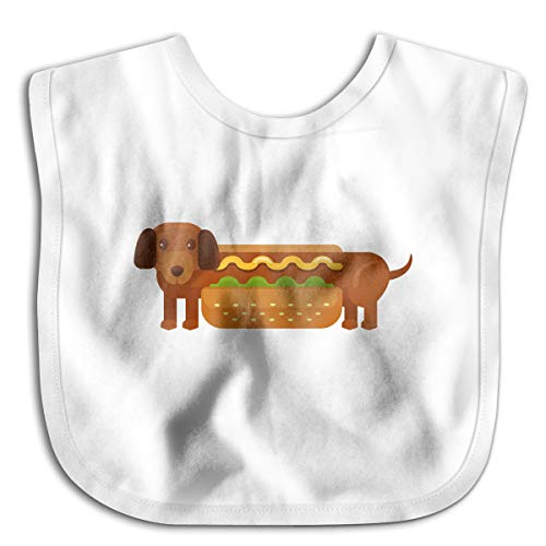 Fashion Hot Dog Funny Baby Bibs Burp Infant Cloths Drool Toddler Teething Soft Absorbent ()