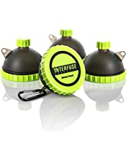 Protein Funnel Keychain 4-Pack; Water Bottle Funnels for Supplements, Portable Protein Powder Container for Gym and Travel, Pre-Workout Fitness Funnels