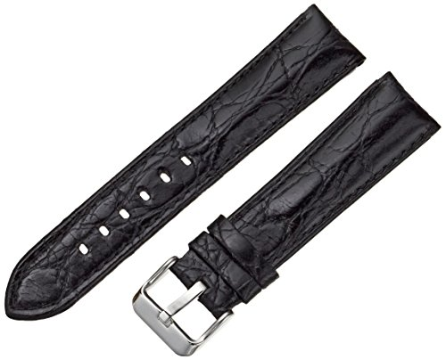 Tech Swiss 20mm Leather Watch Band, Color:Black (Model: LEA330-20SS)