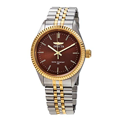 Invicta Men's Specialty Gold-Tone Steel Bracelet & Case Quartz Brown Dial Analog Watch 29381