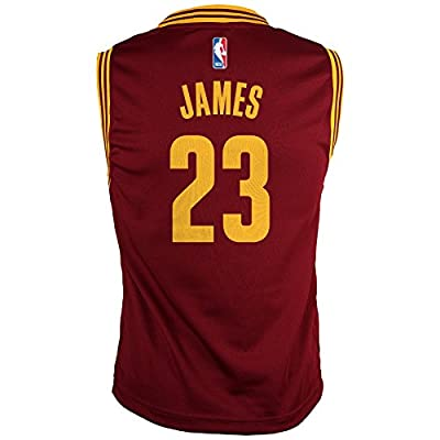 NBA Cleveland Cavaliers, LeBron James, Replica Road Youth Jersey, Large, Burgundy