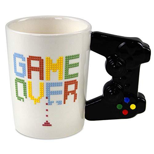 41SSmdWmeRL. SS500 Taza de Cerámica Diseño Original de controlador de consola Frase: Game Over
