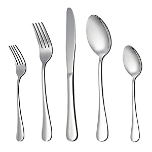 LIANYU 20 Piece Silverware Flatware Cutlery Set, Stainless Steel Utensils Service for 4, Include Knife Fork Spoon… 11