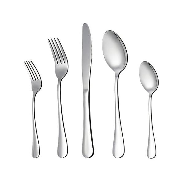 LIANYU 20 Piece Silverware Flatware Cutlery Set, Stainless Steel Utensils Service for 4, Include Knife Fork Spoon… 1