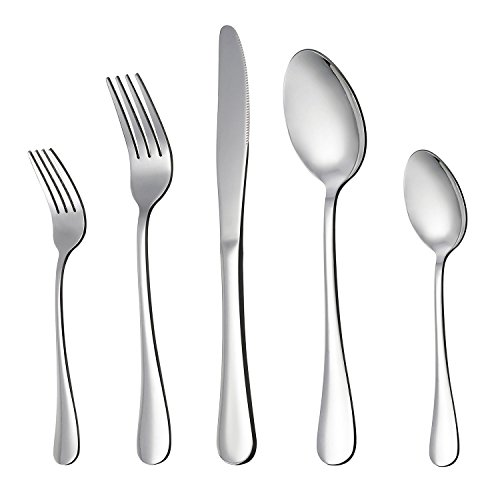 LIANYU 20-Piece Silverware Flatware