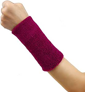 """XGao Wrist Sweatband, 5.9"""" Double Terry Sweat Wristbands Armbands, 2 Ply Athletic Cotton Terry Cloth Moisture Wicking Wristband Arm Band Sweat Band for Sports Tennis Basketball Volleyball Outdoor"""