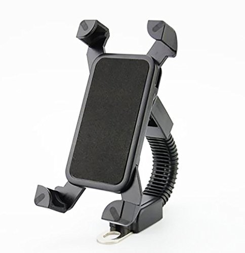 SHiZAK Adjustable Universal Motorcycle Phone Mount Rotatable ATV Scooter Holder Moped Rearview Mirror Stand for iPhone 6S/6/5S/4s/GPS/Samsung S7/S6/Edge etc.