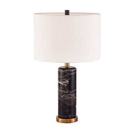 American Modern Black Rose Lámpara de Cabecera de Mármol ...