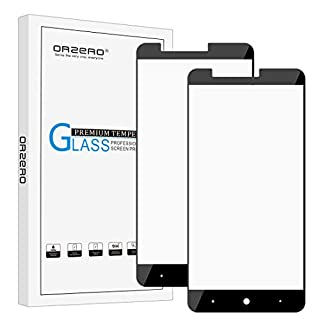 [2 Pack] Orzero for ZTE ZMAX Pro / Z981 [ Full Coverage ] Tempered Glass Screen Protector, 2.5D Arc Edges 9 Hardness High Definition Anti-Scratch Bubble-Free [Lifetime Replacement]