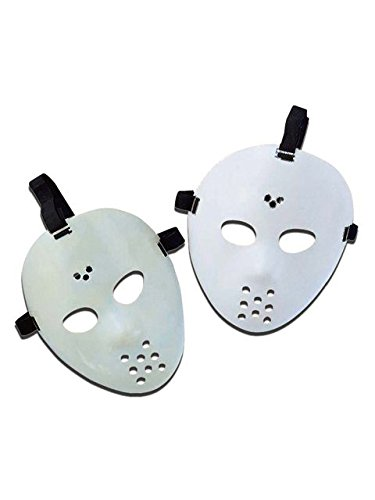 Forum Novelties Mask-Hockey Décor, White ()