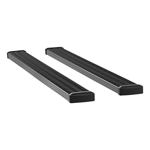 Running Board Grip (Luverne Truck Equipment LUVERNE 415088-401335 Grip Step Truck Running Boards with Expanded Metal Treads (7 Inch Black Powder-Coated Aluminum) - 1 Pair)