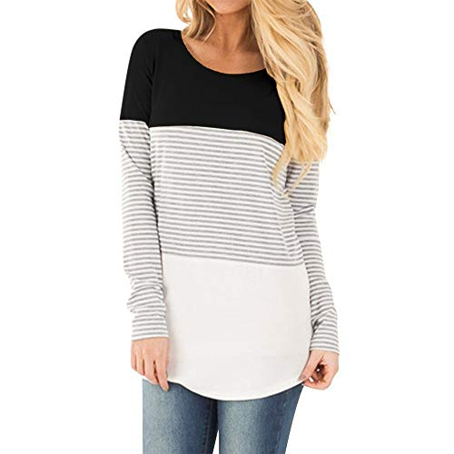 Clearance Deal ! Pregnants Shirt - Womens Casual Nursing Blouse Baby for Maternity Striped T-Shirt Tops (Size:M, Black) ()