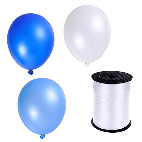 100 light blue balloons - 9