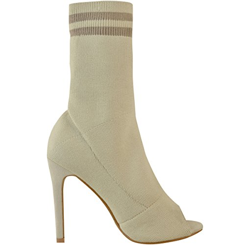 Stilleto High Size Luxe Knit Heel Sock Thirsty Boots Fashion Knit Sports Ladies Stretch Nude Womens qwUHtS