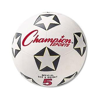 Champion-sports - Pelota deportiva de goma, para fútbol, No. 5 ...
