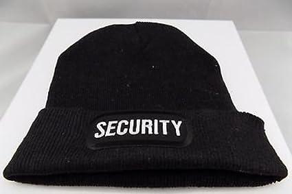 0d7fc0ead Amazon.com : SECURITY Cop Guard Patch BLACK Beanie Knit Cap Hat ...