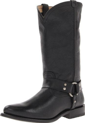 FRYE Women's Wyatt Harness Boot - Black Antique Pull-up -...