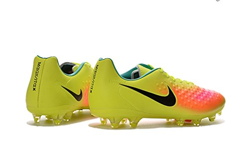 nekcadft Generic Herren Magista II 2FG grau gelb Low Fußball Schuhe Fußball Stiefel